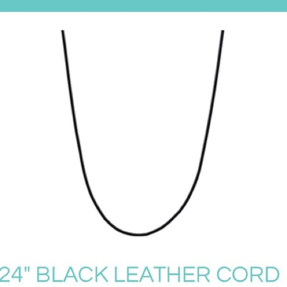 Origami Owl black leather cord Black leather cord Jewelry Necklaces