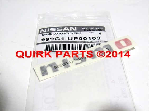 """Nissan """"NISMO"""" Logo Decal Sticker Altima Maxima 350z 370z OEM NEW Genuine #Nissan"""