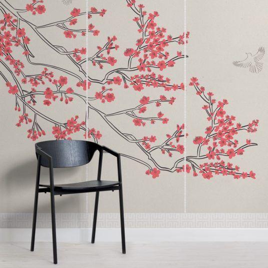 Cherry Blossom Japanese Wallpaper Muralswallpaper Floral Wallpaper Japanese Bedroom Wallpaper Flower Wallpaper