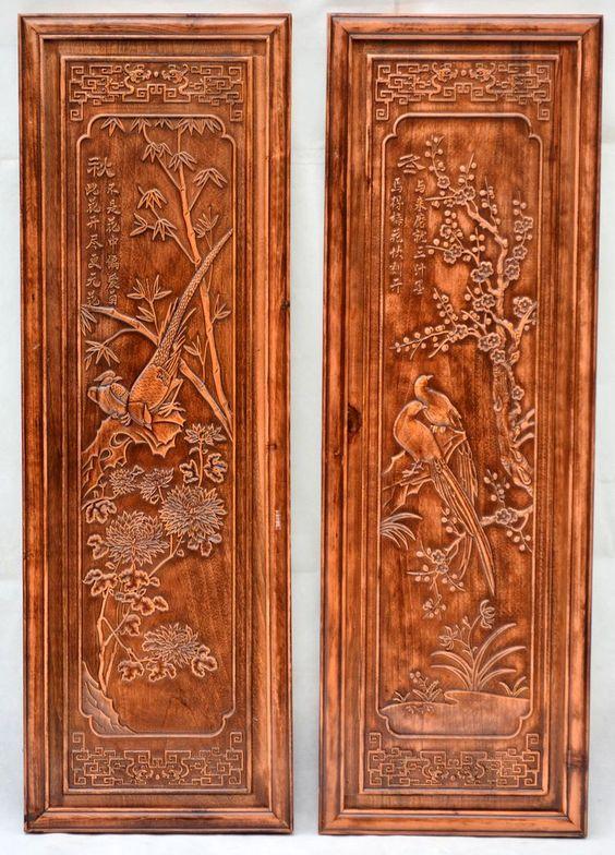 Dongyang sculpture sur bois artisanat antique chinois for Meuble antique chinois