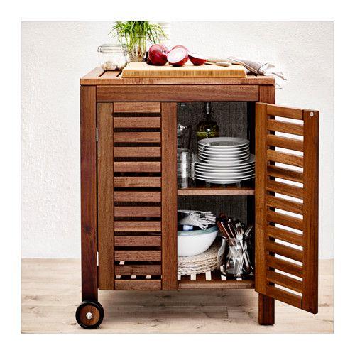 ÄpplarÖ Klasen Storage Cabinet Outdoor Brown Stained Ikea