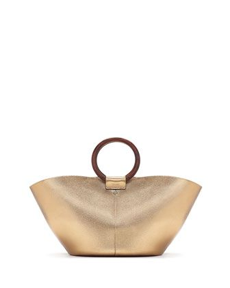 Metallic+Leather+Market+Bag,+Gold+by+THE+ROW+at+Bergdorf+Goodman.
