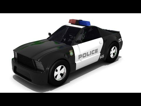 Sergeant Cooper The Police Car Police Car Cartoon For Children