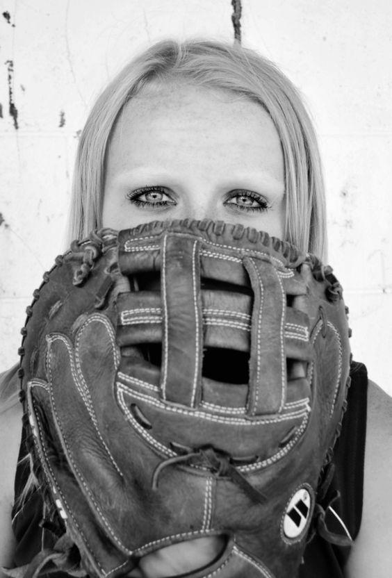 Softball Senior Photo, eyes of catcher