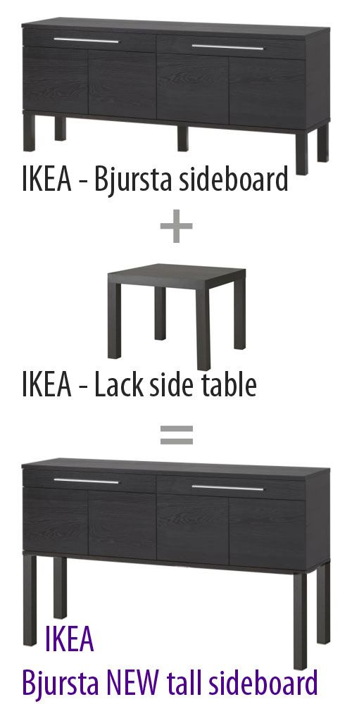 ikea hack d i y ikea 39 s bjursta sideboard ikea 39 s lack. Black Bedroom Furniture Sets. Home Design Ideas