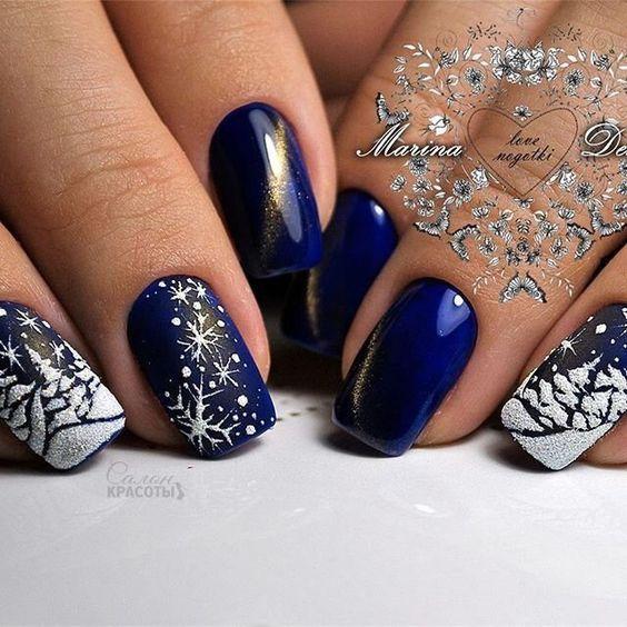 Winter nails , 37 ideas