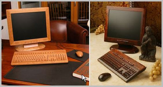 wooden PC's... freaky!