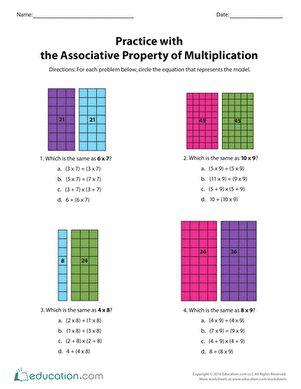 Associative Property Multiplication   Associative property, Third ...