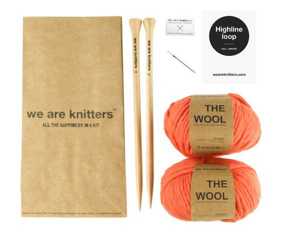 Kit lavoro a maglia per sciarpa High-Line corallo, 7 pz | Dalani Home & Living