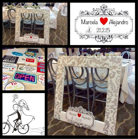 Marco fotos bodas de plata marcos para fiestas - Marcos de plata para bodas ...