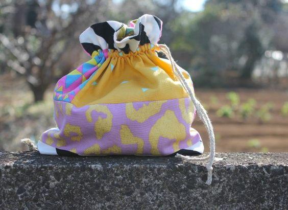 Candy Party Kokka drawstring bag by Miss Matatabi