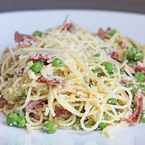 Recipe: Skinny Pasta Carbonara | Bacon, Mom and Turkey bacon