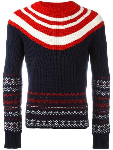 NEIL BARRETT Fair Isle Striped Jumper. #neilbarrett #cloth #jumper