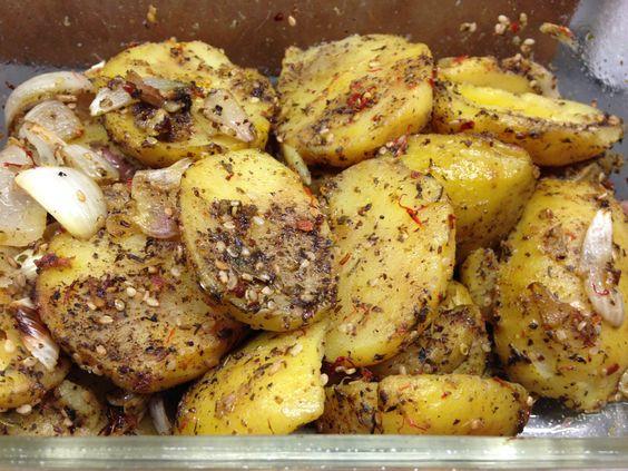 Gebackene Za'tar Kartoffeln