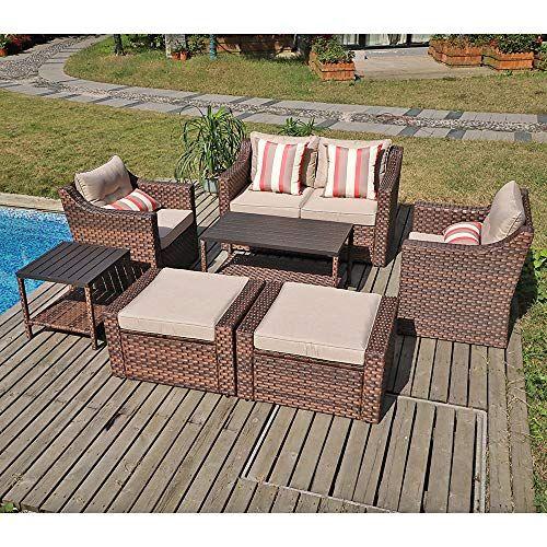 Check This Sunsitt Outdoor Furniture Set 7 Piece Patio Wicker Sofa Lo Patio Furniture Patiofurnit Outdoor Furniture Sets Furniture Sets Patio Furniture Sets