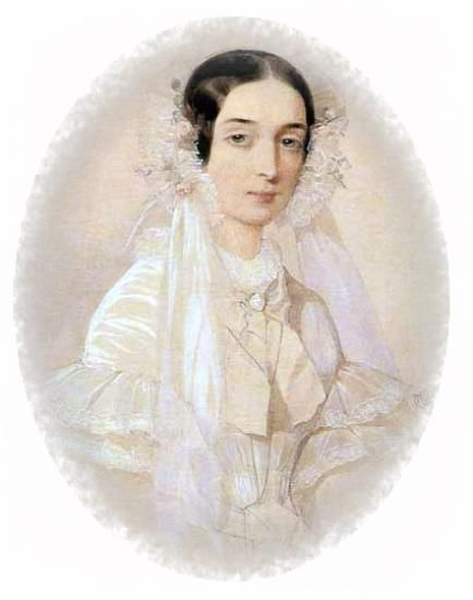 Anna Sheremeteva , maid of honor of the Empress Alexandra Feodorovna , a distant relative of Count Dmitri Sheremetev , which became , in 1838 , his wife. both sang well , versed in music and painting , patronized by actors and musicians . Countess in 1844 gave birth to a son Sergei . Happy family , but ... in 1849, during one of the dinners, Anna suddenly died . According to descendants Sheremetev , she was poisoned broth , which in that day was served to the table.: