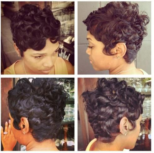 Amazing Pin Curls Curls And Curls For Short Hair On Pinterest Hairstyles For Women Draintrainus