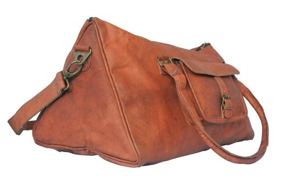 leather duffel for women