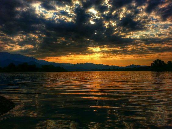 Corsica - Lac de Padula - Coucher de Soleil -