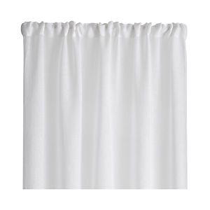 """White Linen Sheer 52""""x108"""" Curtain Panel"""