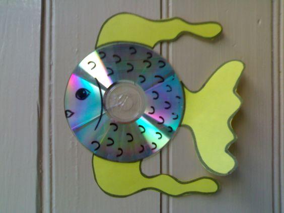 C mo hacer un pez con un cd realizando manualidades para - Cositas para bebes manualidades ...