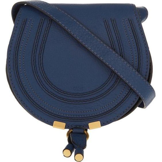 CHLOE Marcie leather cross-body saddle bag (78800 RSD) ? liked on ...