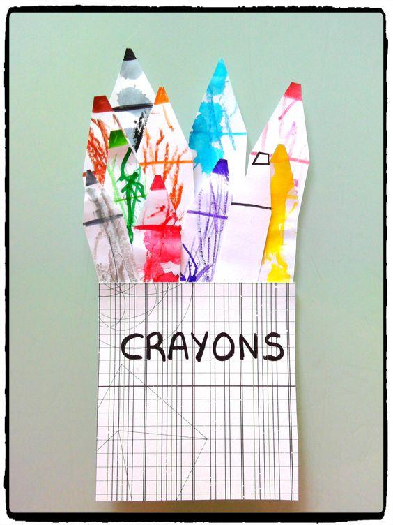 crayons and bricolage on pinterest. Black Bedroom Furniture Sets. Home Design Ideas
