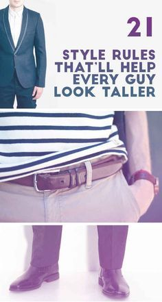 21 Style Rules That'll Help Any Guy Look Taller