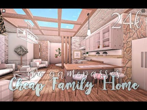 Bloxburg Cheap Family Home No Gamepasses 24k Youtube Modern Family House Unique House Design Tiny House Layout