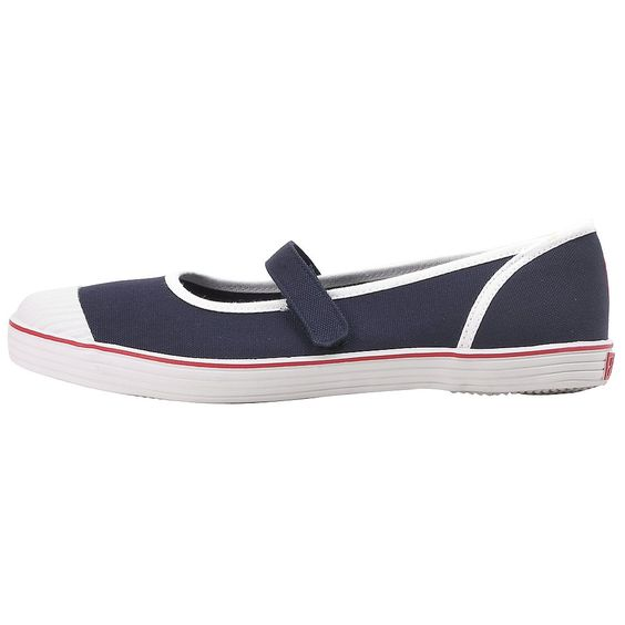 15.99 The women's Melia mary janes from Ralph Lauren feature a textile upper for a great look. The key features are: Sparkling white canvas uppers; Contrasting trim; Easy slip-on/off style