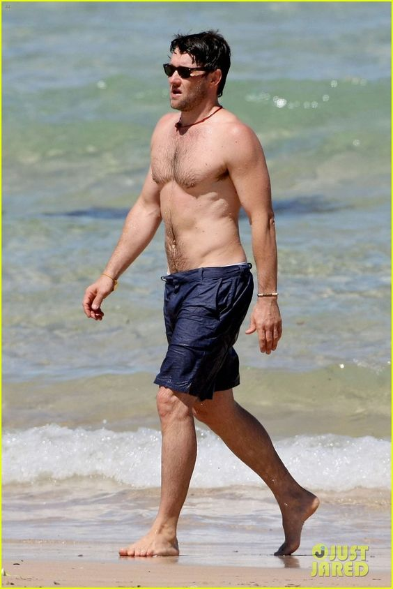 Full Sized Photo of joel edgerton shirtless dip in bondi beach 06 ...