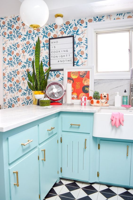 42 Colorful Kitchen To Update Your Home interiors homedecor interiordesign homedecortips