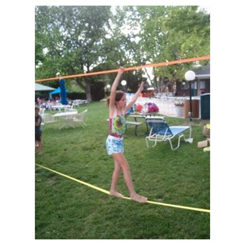 Slackers Slacklines are great for outdoor play! Kids will spend hours working on their balance and agility right in your very own backyard!