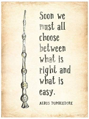 Amazon Com What Is Right And What Is Easy Albus Dumbledore J K Rowling Harry Potter Literarische Zitate Harry Potter Buch Zitate Zitate Aus Harry Potter