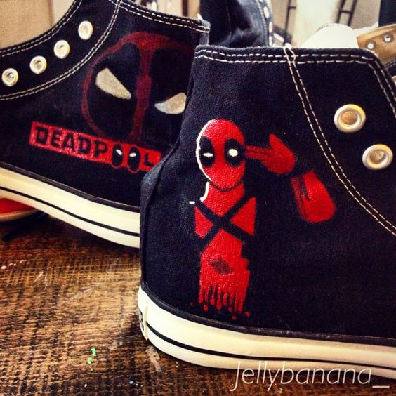 Hey, I found this really awesome Etsy listing at https://www.etsy.com/listing/212017354/marvel-deadpool-hand-painted-converse