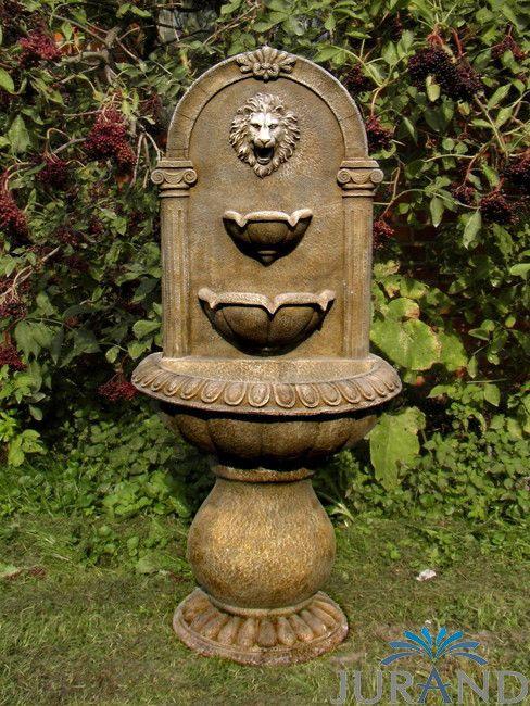 Springbrunnen Fontane Zierbrunnen Garten Deko 1046 Brunnen 103 Cm Steinguss Wall Garden Garden Fountain Fountain
