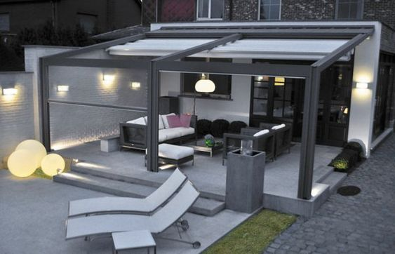 pergola metall terrassen berdachung sichtschutz garten. Black Bedroom Furniture Sets. Home Design Ideas