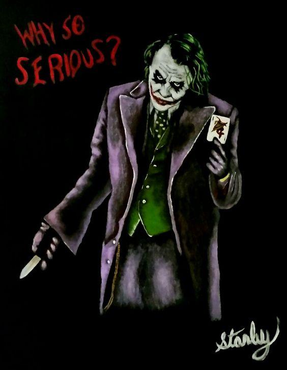 The Joker from the film The Dark Knight.