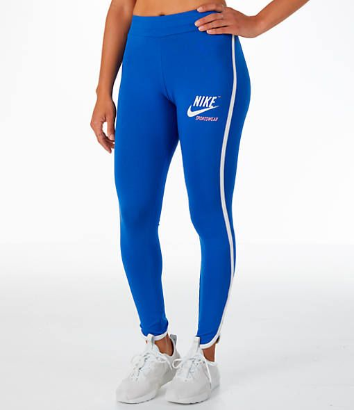 new lower prices uk availability new york Front view of Women's Nike Archive Leggings in Royal Blue in ...
