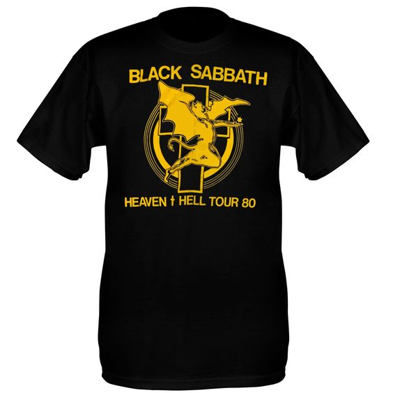 Black Sabbath Tee Shirt (Heaven And Hell Tour 1980)
