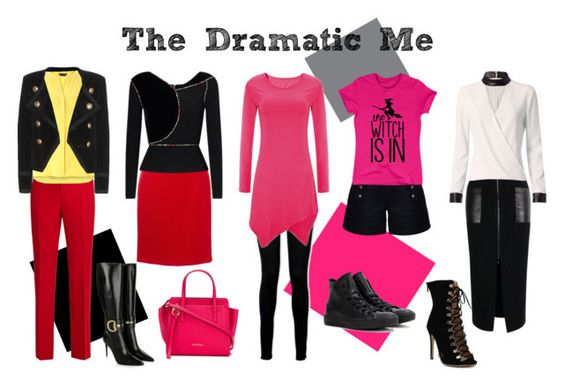 Dramatic style by romantic-devil on Polyvore featuring Roland Mouret, Exclusive for Intermix, Festuvius, Yves Saint Laurent, Gucci, Lanvin, Paige Denim, Rumour London, Dorothy Perkins and Converse: