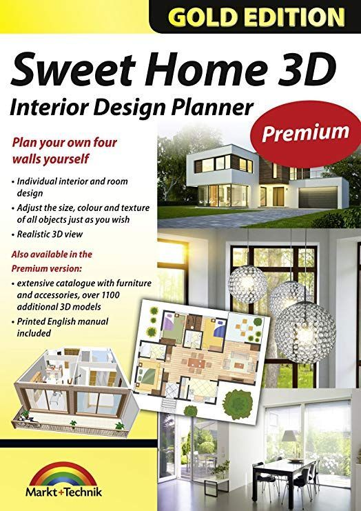 Sweet Home 3d Premium Edition Interior Design Planner With An Additional 1100 3d Models And A Print Sweet Home Design Home Design Software 3d Interior Design