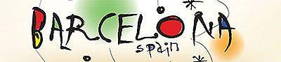 "Reminisce BARCELONA 2"" x 10"" TITLE STICKER scrapbooking SPAIN"