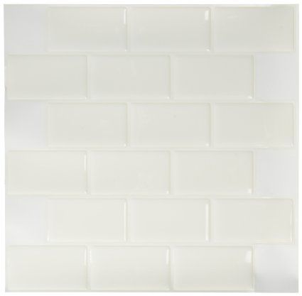 Amazon.com - Tic Tac Tiles®-High Quality Anti-mold Peel and Stick Wall Tile in Big Brick White (5) -