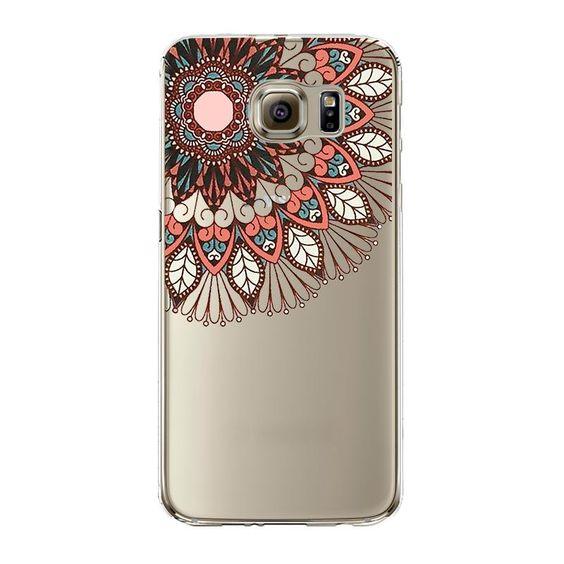 Transparent TPU Tribe Elephant Flower Silicone Coque For Samsung Galaxy