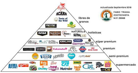 Aquí Te Compartimos La Pirámide Alimenticia Que Nos Ha Servido De Guía De Esta Te Recom Marcas De Alimentos Para Perros Alimentos Para Gatos Comida Para Gatos