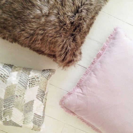Selina Lake: My Tesco Home this Autumn - Fringed Pink Cushion from @tesco #Mytescohome