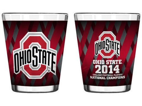 Ohio State Buckeyes 2015 College Football Playoffs National Champions Red Shot Glass