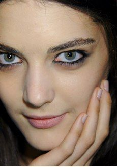 CND provides a foil to more dramatic makeup with their Pink Lily polish at BCBG.