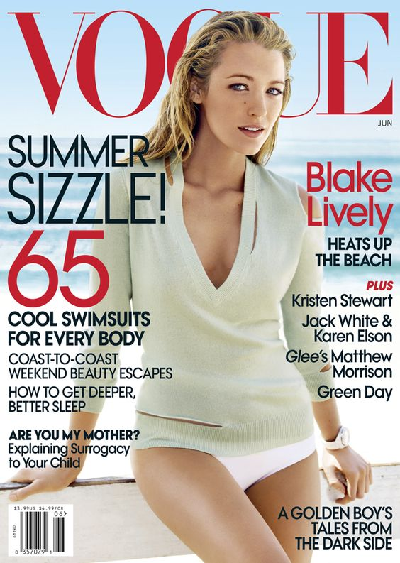 Blake Lively by Mario Testino for American Vogue June 2010